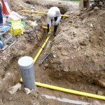 ガス埋設配管作業